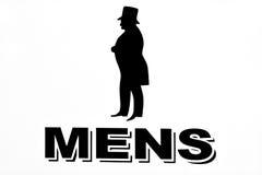 Signe de toilettes de messieurs images libres de droits