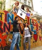 Signe de touristes drôle Londres Angleterre de carnaval de Notting Hill Photographie stock libre de droits