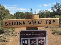 Signe de traînée de vue de Sedona Images libres de droits
