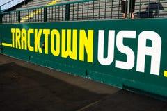 Signe de Tracktown Etats-Unis chez Hayward Field Eugene historique, OU Photographie stock libre de droits