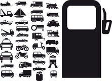 Signe de transport illustration stock