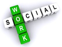 Signe de travail social Images stock