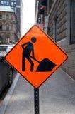 Signe de travaux de construction Photos libres de droits