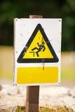 Signe de triangle de Causion Image libre de droits