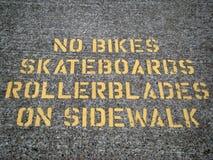 Signe de trottoir Photo stock