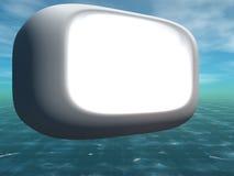 Signe de tube avec le fond de la grunge 3D Photos libres de droits