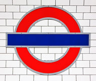 Signe de tube de Londres Photos libres de droits