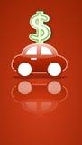 Signe de véhicule et d'argent Photo stock