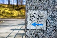 Signe de vélo Images stock