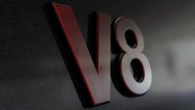 Signe de V8 Photos stock
