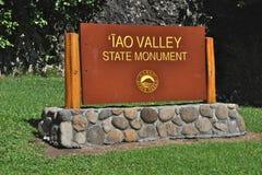 Signe de vallée d'Iao Images libres de droits