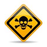 Signe de vecteur de danger de crâne illustration de vecteur