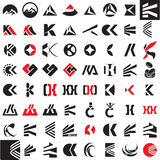 Signe de vecteur de lettre de K Image stock
