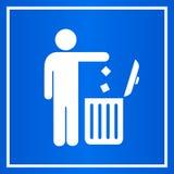 Signe de vecteur de poubelle de poussière d'utilisation illustration stock