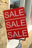 Signe de vente Photo libre de droits