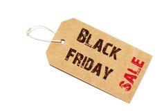 Signe de vente de Black Friday - un prix à payer de papier avec une ficelle d'isolement Photos libres de droits