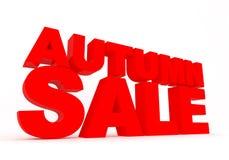 Signe de vente d'automne Photos libres de droits