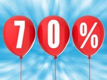 signe de vente de 70% Images libres de droits