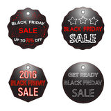 Signe de vente de Black Friday, logos et ensemble de collection de labels Images stock