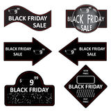 Signe de vente de Black Friday, logos et ensemble de collection de labels Photo stock