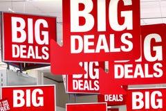 Signe de ventes d'affaires Images libres de droits