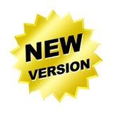 Signe de version neuve Image libre de droits