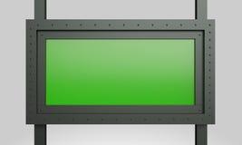 signe de vert de construction en métal du rendu 3d Photographie stock