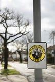 Signe de vigie de quartier Photos libres de droits