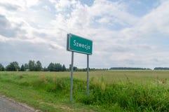 Signe de vilage de Szwecja en Pologne photo libre de droits