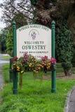 Signe de ville d'Oswestry Photos libres de droits