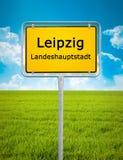 Signe de ville de Leipzig photographie stock