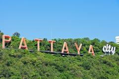 Signe de ville de Pattaya Image libre de droits