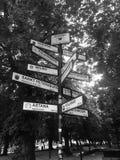 Signe de villes d'associé de Danzig, Pologne Photo libre de droits