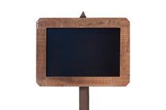 Signe de vintage avec le cadre en bois d'isolement sur le blanc Images libres de droits