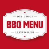 Signe de vintage de menu de barbecue de BBQ illustration stock