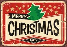 Signe de vintage de Joyeux Noël Photos stock