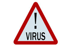 Signe de virus Photo stock