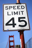 Signe de vitesse Images stock