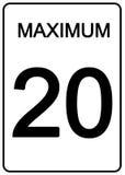 Signe de vitesse de Maximun Images stock