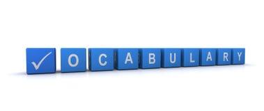 Signe de vocabulaire illustration de vecteur
