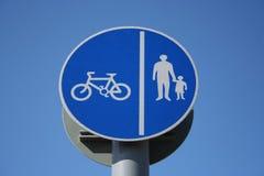 Signe de voie de cycle Photographie stock libre de droits