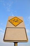 Signe de voie de vélo Photographie stock libre de droits