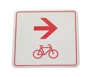 Signe de voie pour bicyclettes images libres de droits