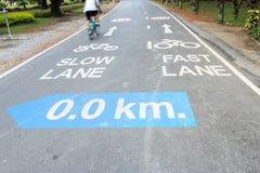 Signe de voie pour bicyclettes Photos libres de droits