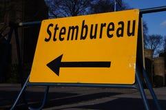 Signe de vote néerlandais de bureau photo stock
