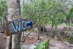 Signe de W C Photos libres de droits