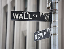 Signe de Wall Street Photo stock