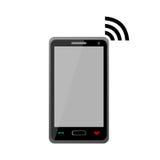 Signe de Wi-Fi de téléphone portable - illustration Photographie stock