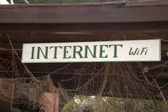 Signe de Wifi d'Internet Photos libres de droits