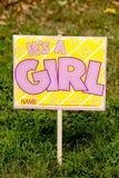 Signe de yard de bébé Photographie stock libre de droits